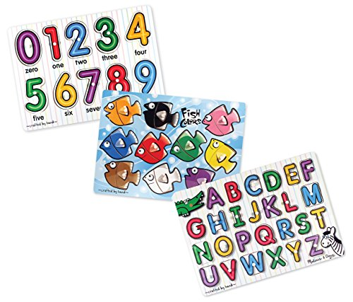 Melissa & Doug Classic Puzzels -Numbers, Alphabet, and Colors
