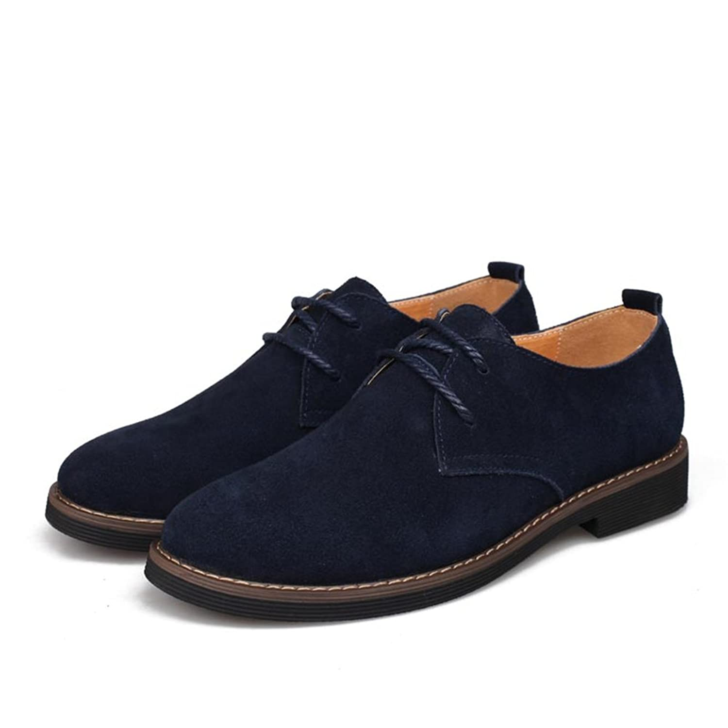 Shoes Men's Shoes Suede Spring Summer Fall Winter Comfort Lace-up For Casual (Color : C Size : 43)