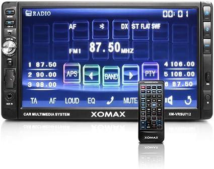 XOMAX XM-VRSU712 Autoradio / Radio de coche Moniceiver con 18 cm / 7