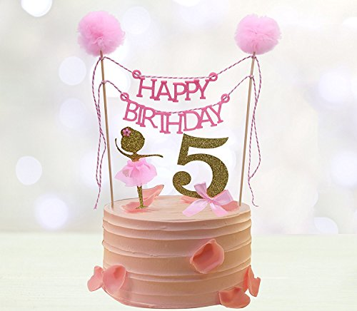 Fifth Birthday Cake Toppers,