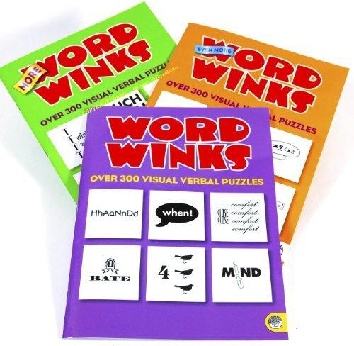 MindWare Word Winks Puzzle Books _ Three Volume Set
