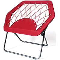 Red Bungee Chair Hex Folding Camping Outdoor Indoor Foldable Children Chair
