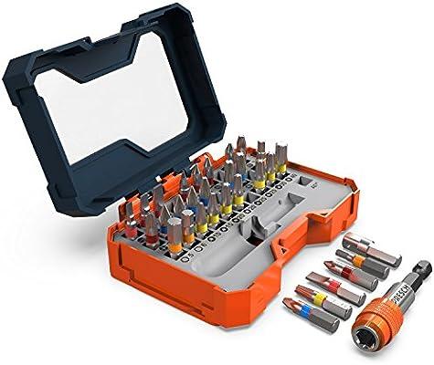 Presch juego caja 32 puntas - puntas magnéticas con soporte de ...