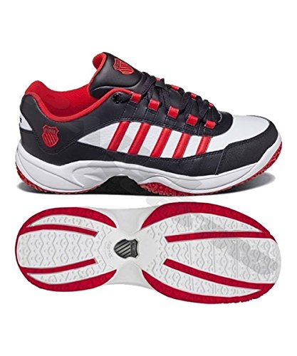 K-Swiss - Zapatilla pádel kswiss outshine omni, talla 47, color blanco / rojo: Amazon.es: Zapatos y complementos