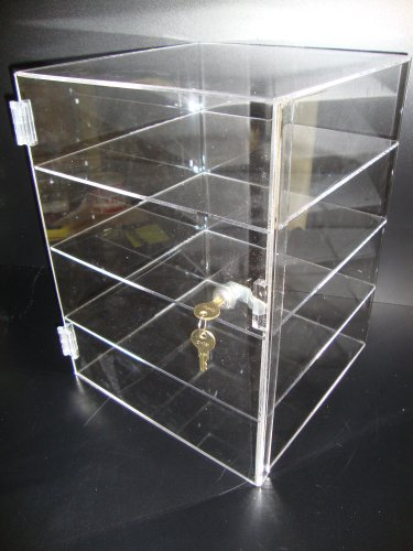 Acrylic Lucite Showcase Jewelry Pastry Bakery Counter Display W/door & Lock (12