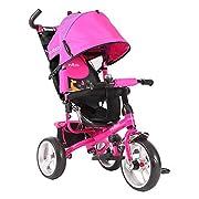 Evezo Stroll 'n Trike, 4-in-1 Convertible, Reclining Seat, Age 1 - 6, Model Turk, Pink