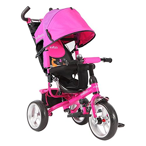 Evezo Baby Tricycle/Stroller Combo Turk, Reclining, Pink