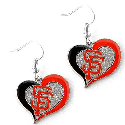 (San Francisco Giants Swirl Heart Earrings)