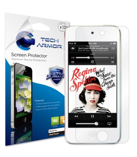 iPod Touch (5th / Latest Generation) HD Clear Screen Protector with Lifetime Replacement Warranty [3-Pack] ()