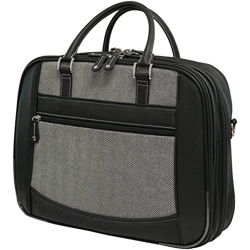 Mobile Edge Women's Herringbone ScanFast TSA Checkpoint Friendly Element Laptop Bag 16 Inch PC, 17Inch MacBook, Business, Travel, Students MESFEBHL ()