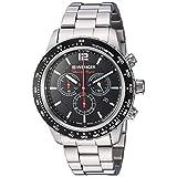 Wenger Men's 01.0853.107 Roadster Analog Display Swiss Quartz Silver Watch