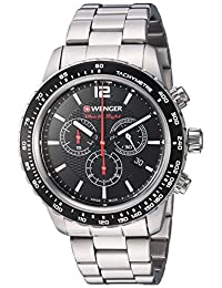 Wenger Men's 01.0853.107 Roadster Analog Display Swiss Quartz Silver Watch