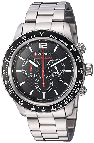 Wenger-Mens-Roadster-Swiss-Quartz-Stainless-Steel-Casual-Watch-ColorSilver-Toned-Model-010853107