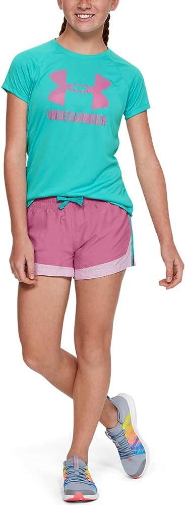 Under Armour Girls/' Big Logo Solid Short Sleeve T-Shirt