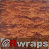 Burlwood (Honey) Wood Grain Film Vinyl Sheet Roll Wrap - 12' x 24' Burlwood (Honey)