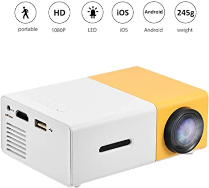 Mini proyector LED,24~60 Pulgadas Proyector de Video HD 1080P con ...