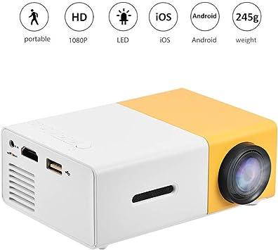 Mini proyector LED,24~60 Pulgadas Proyector de Video HD 1080P con ...