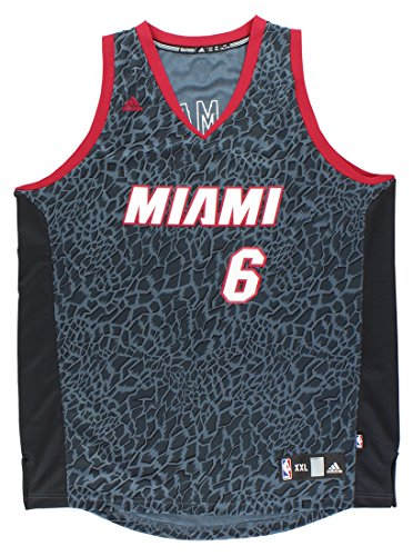LeBron James Miami Heat #6 Adidas Black Crazy Light Fashion Swingman Jersey (XL)