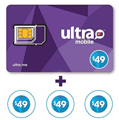 Ultra Mobile $49 Plan for 3 Months + 4th Month Free.