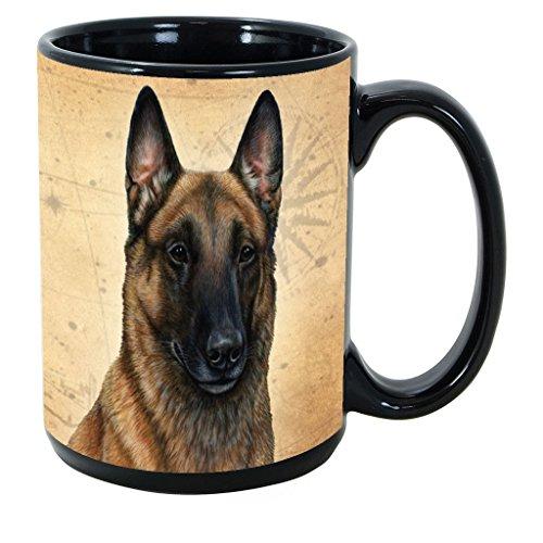 Imprints Plus Dog Breeds (A-D) Belgian Malinois 15-oz Coffee Mug Bundle with Non-Negotiable K-Nine Cash (belgian malinois 017) (Belgian Mug Malinois)