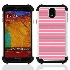 For Samsung Galaxy Note3 N9000 N9008V N9009 - lines summer teal pink pattern clean Dual Layer caso de Shell HUELGA Impacto pata de cabra con im????genes gr????ficas Steam - Funny Shop -