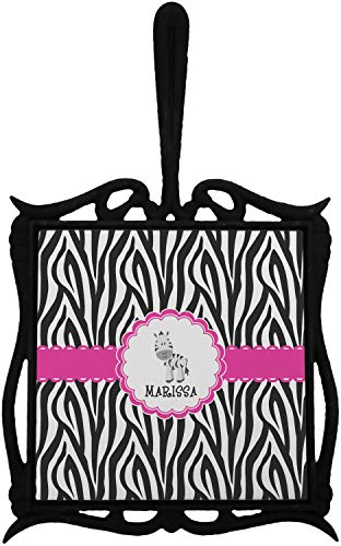 Zebra Trivet with Handle (Personalized) ()