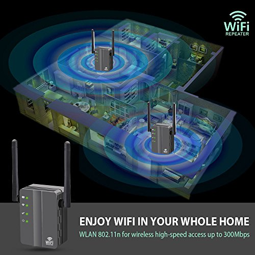 WiFi Range Extender, FiveHome 300Mbps High Speed WiFi Booster with Repeater/Access Point/Router Mode -360 Degree WiFi Signal - Easily Set Up by FiveHome (Image #7)
