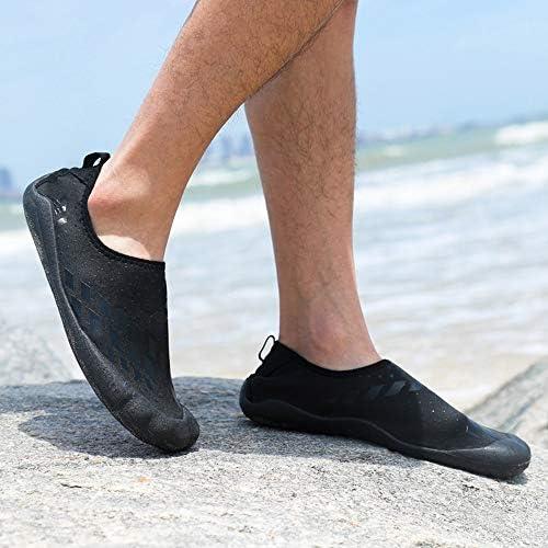 屋外の女性と男性のゴム素材ビーチシューズ通気性軽量発汗上流の靴ダイビングシューズ(ブラック)US6-US10 ポータブル (色 : Black, Size : US6)