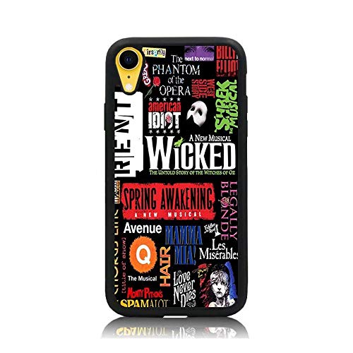 iPhone XR Case, [Broadway Musical Collage Poster Series] Print Soft TPU & Hard Back Shock Absorption Scratch Proof Slim Protective Case Cover for iPhone XR