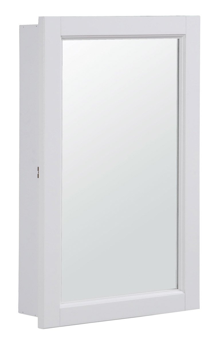 Design House 590505 16x26 Concord Ready-To-Assemble Single Door Medicine Cabinet, White