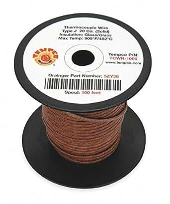 Amazon.com: TEMPCO 100 ft. Alambre de fibra de vidrio sólido ...
