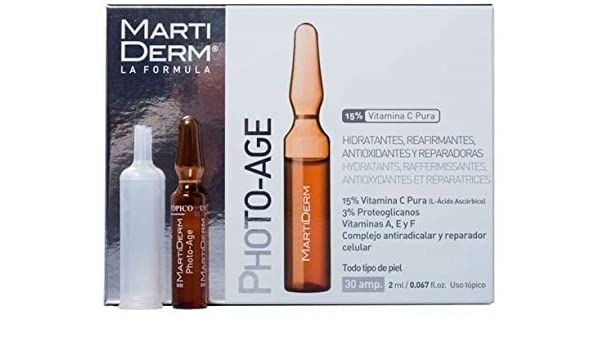 Amazon.com: Martiderm Photo Age Anti-Aging 2Ml 30 Ampoules Ampollas All Skin Types X Mas Gift Skin Beauty Gift: Beauty