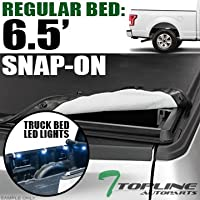 Topline Autopart Hidden Snap On Soft Vinyl Tonneau Cover...