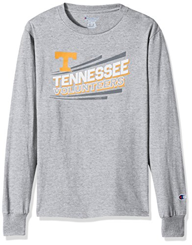 Champion NCAA Tennessee Volunteers Youth Boys Long Sleeve Jersey Tee, Large, Oxford Heather