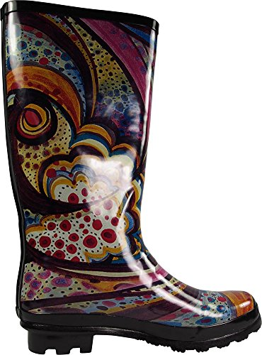 Hi Solids Rainboots Waterproof amp; Prints Calf and Print Monet Wellie NORTY Hurricane Glossy Women's 14 Matte xwnqBCS1IP