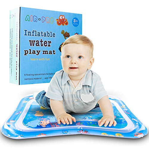 Biulotter Water Mat, Kids Inflatable Tummy Time Water Play Mat Infants & Toddlers is The Perfect Fun time Play Activity Center Your Baby's Stimulation Growth