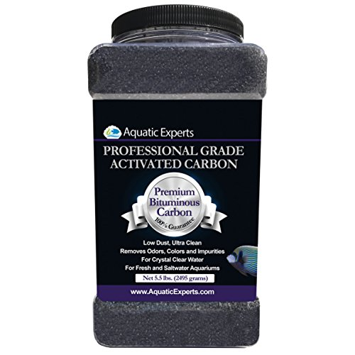 Aquatic Experts Premium Activated Carbon - Aquarium Filter Charcoal Media with Fine Mesh Bag - 5.5 lbs Bulk - Remove Odors and Discoloration with Bituminous - Carbon Fish Activated
