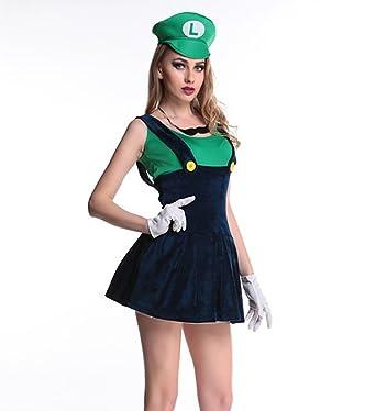 Amazon.com Eternatastic Womens Halloween Costume Nintendo Super Mario Adult Costume Clothing  sc 1 st  Amazon.com & Amazon.com: Eternatastic Womens Halloween Costume Nintendo Super ...
