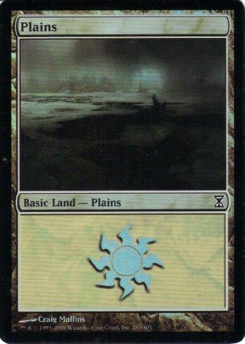 Plains FOIL (Magic the Gathering : Time Spiral #283 Foil Common)