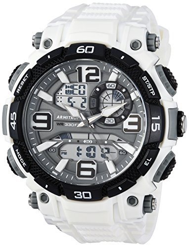 20/5270WHT Analog-Digital Chronograph White Resin Strap Watch ()