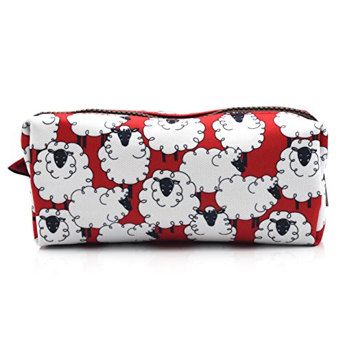 Sheep Students Canvas Pencil Case Pen Bag Pouch Stationary Case Makeup Cosmetic Bag (Sheeps)