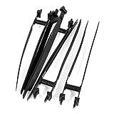 5 Pcs 145mm x 7mm Black Nylon Auto Car Push Mount Wire Cable Tie, Model: , Outdoor&Repair Store