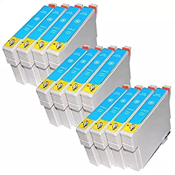 12 T1812 Cian/Azul cartuchos de tinta compatibles con Epson ...