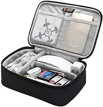 Ocamo BUBM Accesorios electrónicos portátiles Estuche de Viaje Organizador de Viaje para Cables Unidad Flash USB Accesorios electronicos Bolsa de Malla de una Sola Capa: Amazon.es: Electrónica