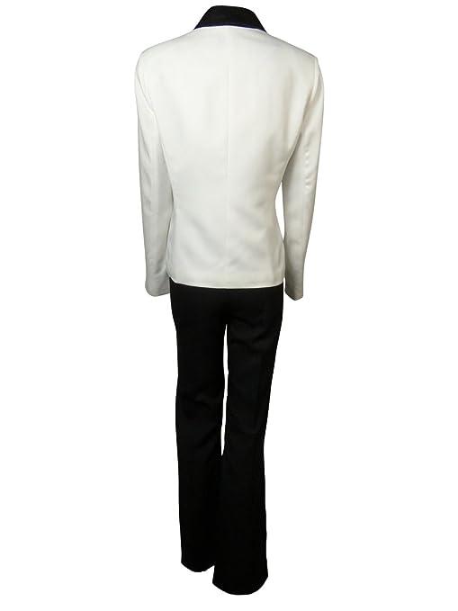 Amazon.com: Le traje de la mujer Crepe de ribete Burdeos ...