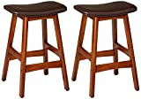Cheap Homelegance 1188DB-24 Bi-Cast Vinyl Counter Height Stool (Set of 2), Dark Brown