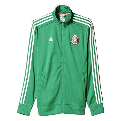Mexico Track Jacket (Adidas Men's FMF Mexico 3Stripe Track Jacket (Large) Green/White)