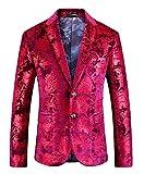 MOGU Mens Slim Fit Rose Gold Blazer Jacket US Size 42 (Label Size 58/4XL)