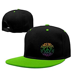 Unisex Peace Love Soccer Snapback Hat - Hip Hop Baseball Caps