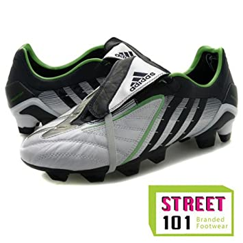 aa8a48d99a98 adidas Predator Power Swerve TRX Firm Ground Football Boots - Predator Run  White/Indigo/Rave Green - UK Size 9½: Amazon.co.uk: Sports & Outdoors